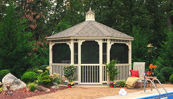 Wood & Vinyl Gazebos - Vinyl Octagon Gazebo