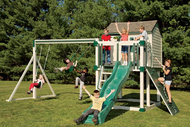 custom wood playsets in west palm beach vinyl playset installation company